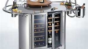 Serve it in style with the Alpina Grills' Mobile Wine Bar