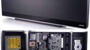 Omaura's clean-lined wall-hanging HTPC concept