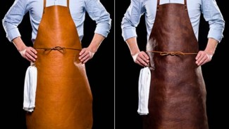 Bole's Made to order Reindeer Leather Apron is an ultimate gift for the quintessential man