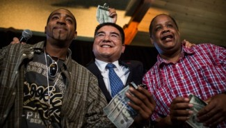 A charity lunch event by Chen Guangbiao backfired