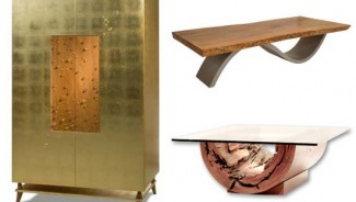 Rotsen furniture covers their wooden furniture into gold leaf
