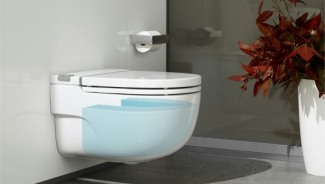 Roca In-Tank Meridian toilet conceals a water-closet inside