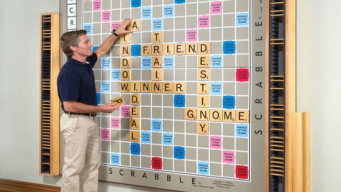 The World's largest scrabble game sells for $12,000