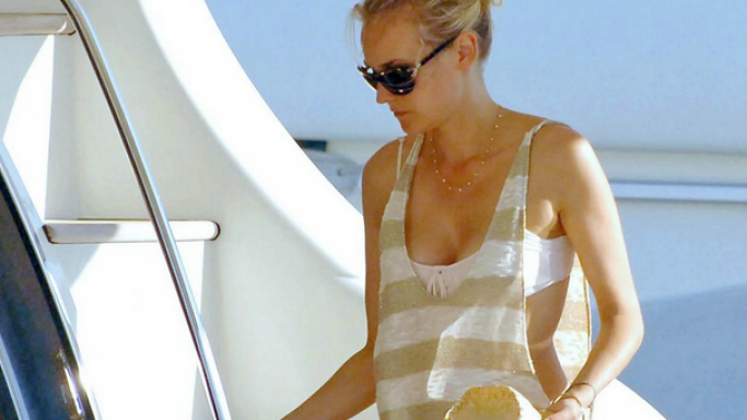 Diane Kruger and her boyfriend Joshua Jackson went to Saint Tropez in May, 2010