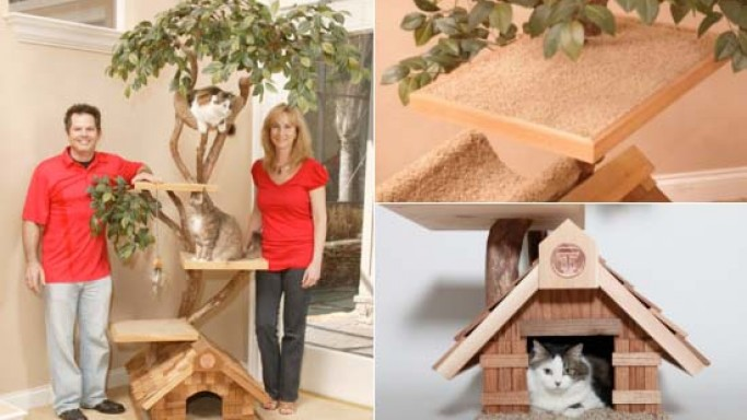 Hand-crafted luxury Pet Tree Houses