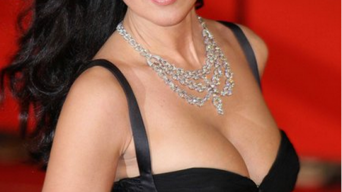 The fashion model has a fascination for high-end brands like the Cartier necklace and has donned it at the Rome Film festival in 2007.
