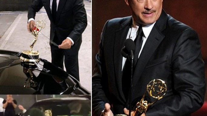 Tom Hanks custom Emmy Hood Ornament for his Lincoln