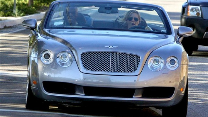 Heidi Klum drives Bentley Continental GTC