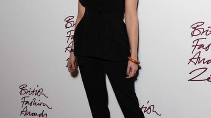 Gemma wears Stella McCartney Evening Fall 2012 Tux Jumpsuit