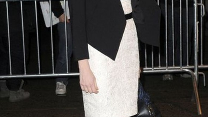 Jessica wears Helmut Lang Smoking Tux Jacket
