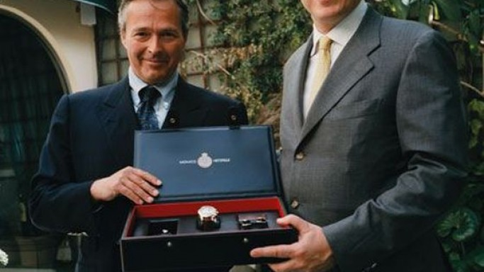 Mr. Karl-Friedrich Scheufele, Co-President of Chopard and Prince Albert II