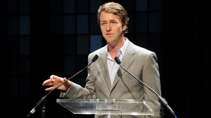 Edward Norton attends Friends of the High Line foundation