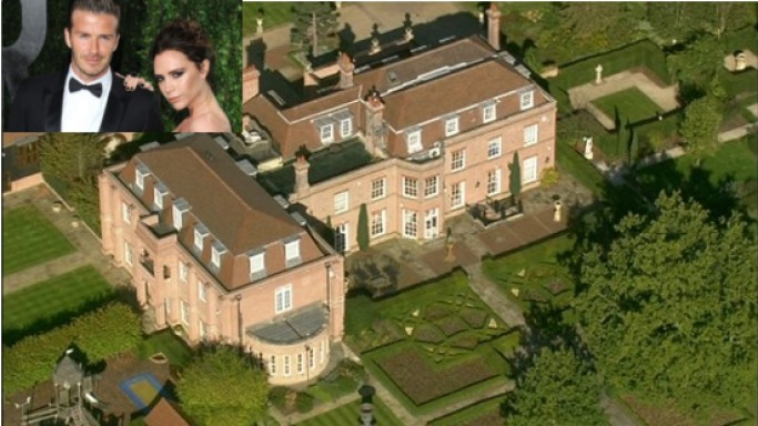 David & Victoria Beckham lists Beckingham Palace for sale