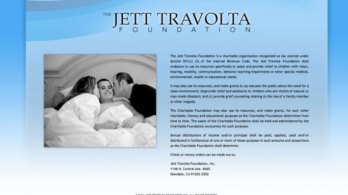 Jett Travolta Foundation