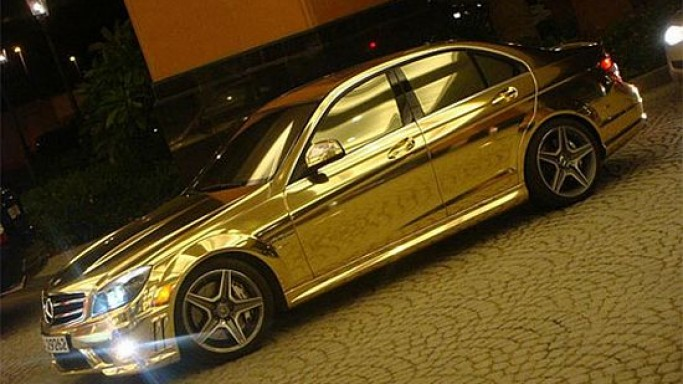 Gold plated Mercedes-Benz C63 AMG for the uber rich