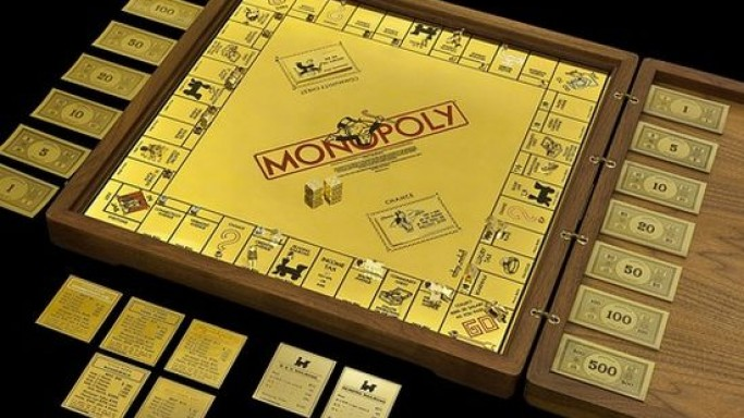 Sidney Mobell's gold and jewel-encrusted Monopoly game set