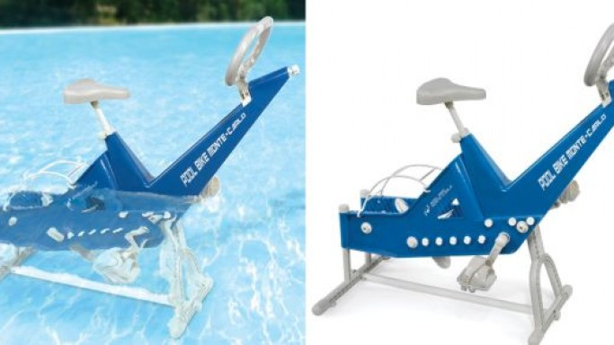 Monte Carlo Pool Bike lets you enjoy the benefits of aquatic exercise