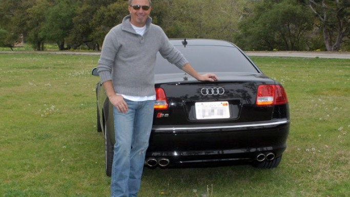 Audi S8 car - Color: Black  // Description: showy