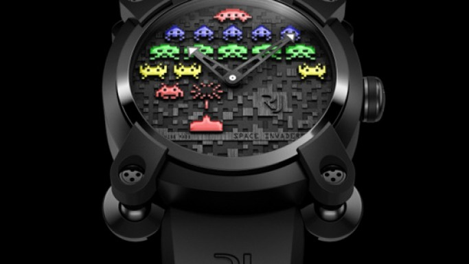 Limited Edition Romain Jerome Wristwatch  with Space Invader design