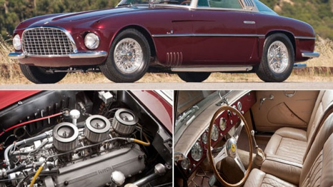 Handcrafted 1953 Ferrari 375 America Coupe is estimated to fetch upwards of $2M