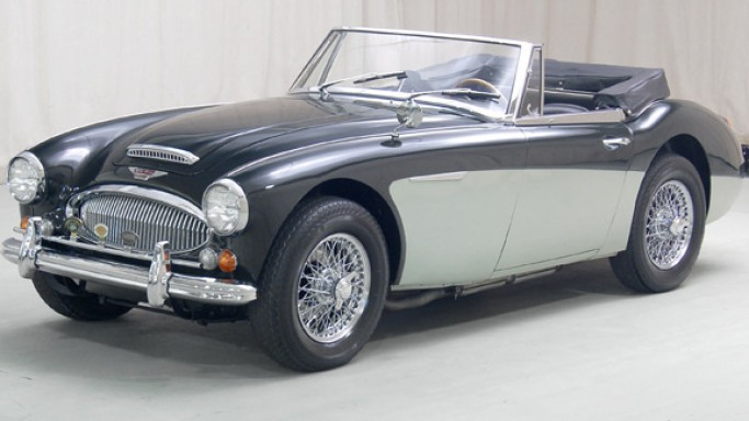 1966 Austin Healey 3000 car - Color: Black  // Description: vintage