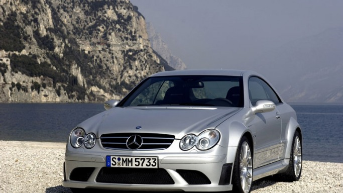Mercedes-Benz CLK car - Color: Silver  // Description: amazing