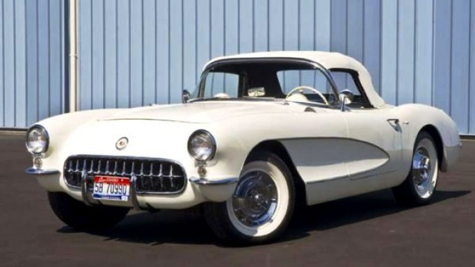 1957 Corvette car - Color: White  // Description:
