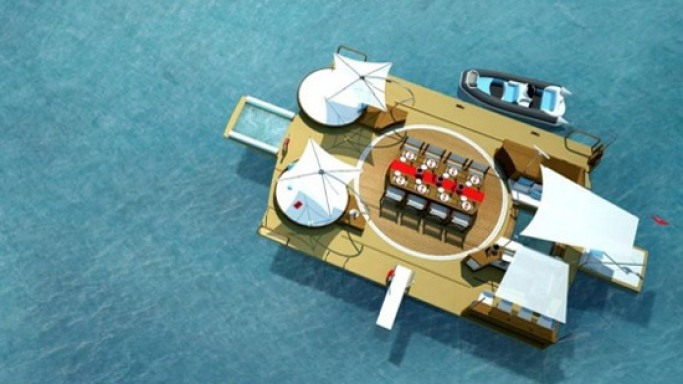 The Recreational floating island is a perfect toy for the billionaire's superyacht