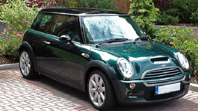 Cooper S car - Color: Green  // Description: lavish