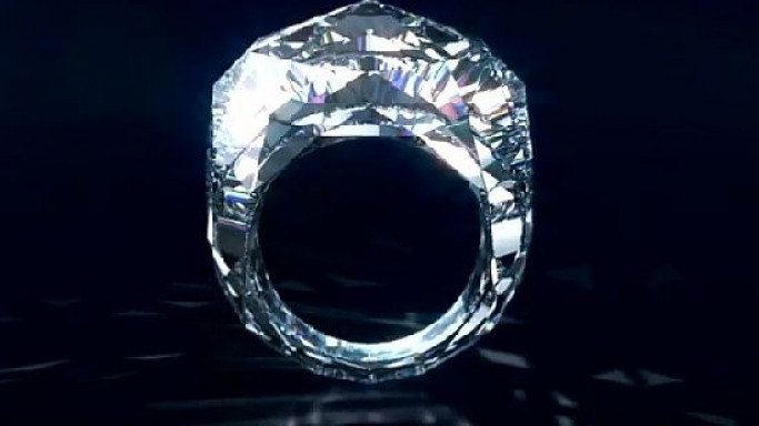 Swiss Jeweler Shawish designs World's First 150-Carat Single Faceted Diamond Ring