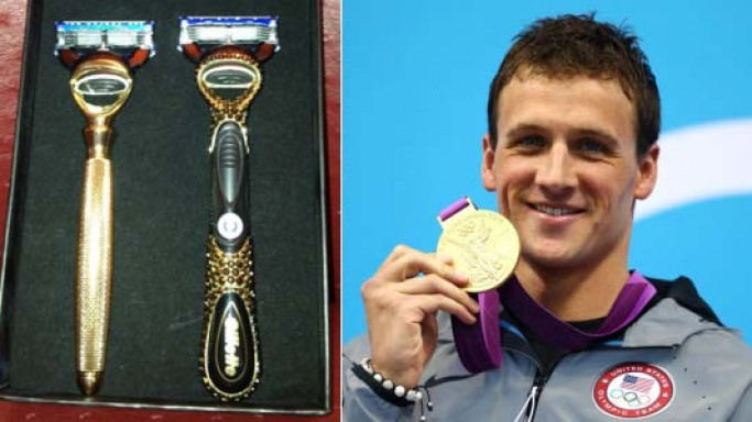 Ryan Lochte gets gold plated and diamond encrusted razors from Gillette for winning gold