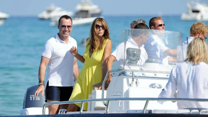 Elizabeth on vacations in St Tropez