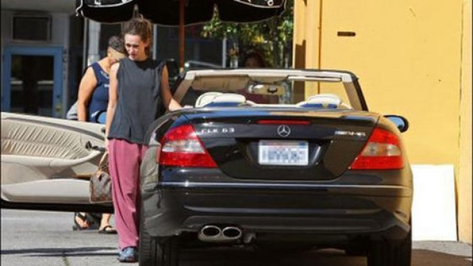 Jennifer drives Mercedes-Benz CLK63 AMG