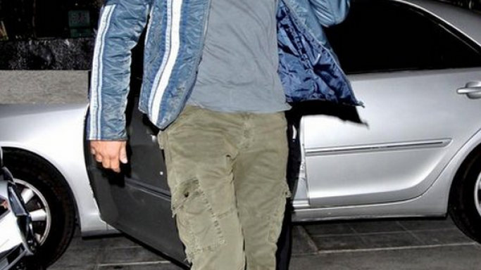 Gerard has been donning the designer J Brand jeans quite often.