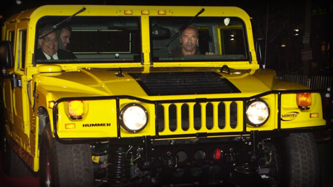 Arnold Schwarzenegger is the proud owner of first civilian Hummer in the world.