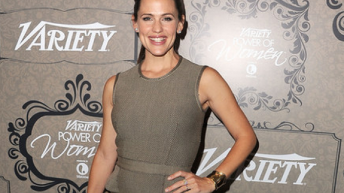 Garner was photographed in her Givency dress attending the Variety's 4th Annual Power of Women Event in October 2012.