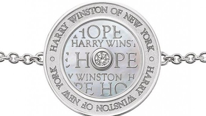 Harry Winston Hope collection bracelet on sale for charitable purposes