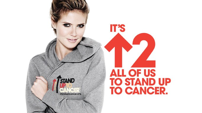 By donating a lot of clothes at auctions which benefit cancer research, Ms.Klum has been generously contributing to Cancer Research UK