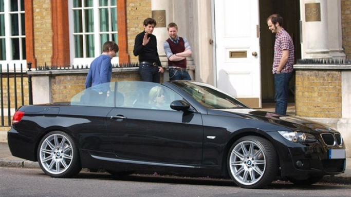 Lily Allen's BMW 3 series Convertible