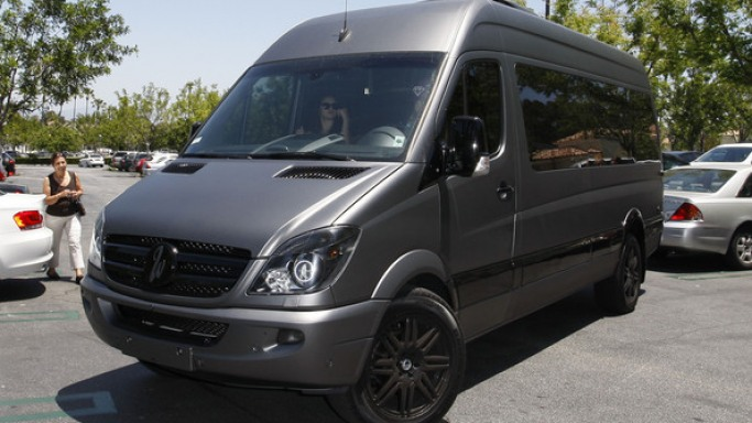 Mercedes-Benz Sprinter car - Color: Gray  // Description: big