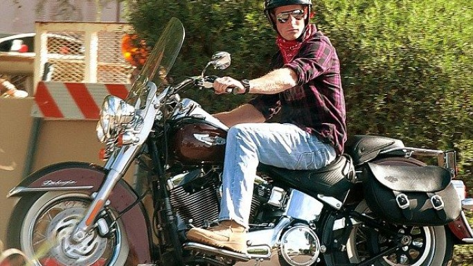 Prince Harry rides Harley-Davidson Softail Classic