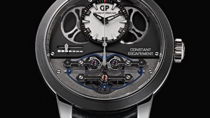 Girard-Perregaux Constant Escapement Watch uses a 14 microns silicon buckled-blade