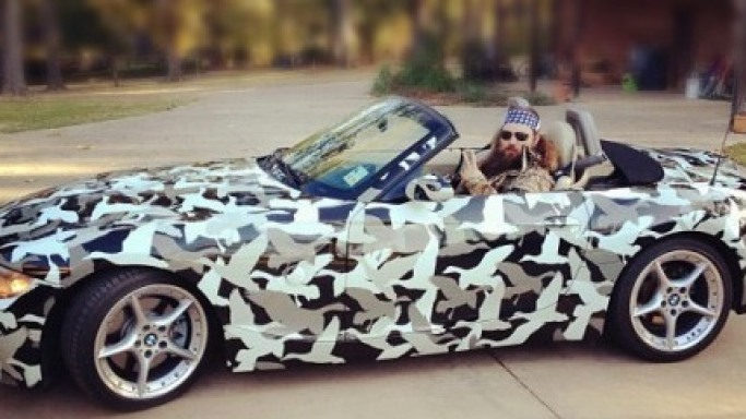 Willie Robertson and his BMW car