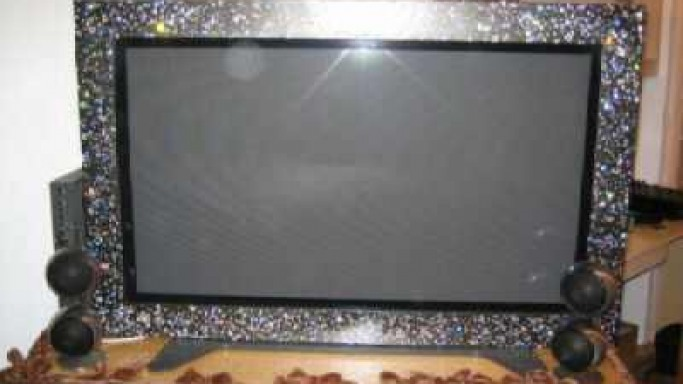 Panasonic First Swarovski Studded Framed Plasma TV up for Auction