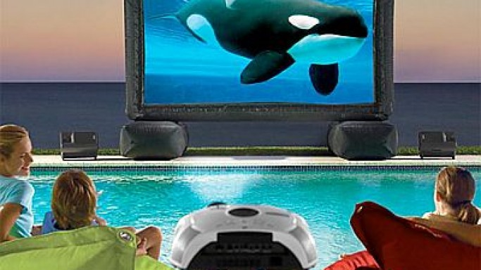Inflatable Widescreen Outdoor Theater System