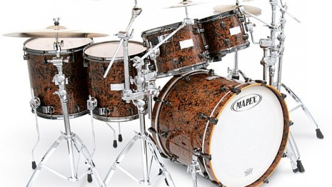 2008 Limited Edition Mapex Orion Chocolate Burl drum set