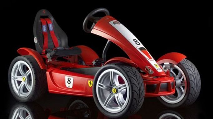 Exclusive Ferrari FXX pedal go-kart for budding kid-racers