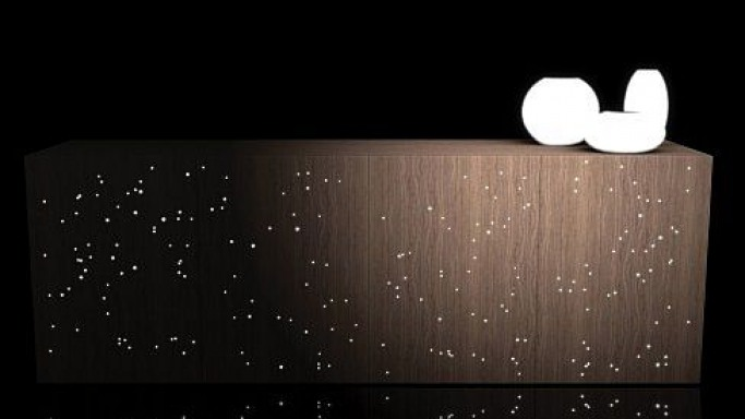Recreate Stellar Effect into Your Home with Fiber Optic Cabinet