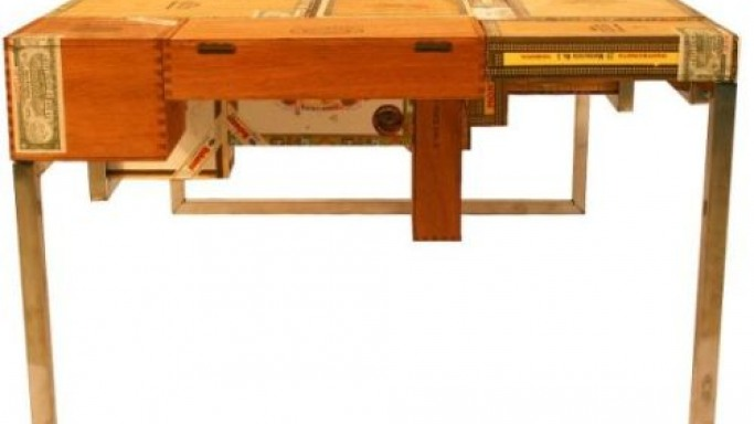 A coffee table for cigar connoisseurs