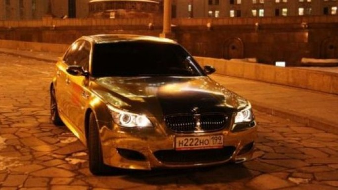 Gold plated cars in gold rush of luxury